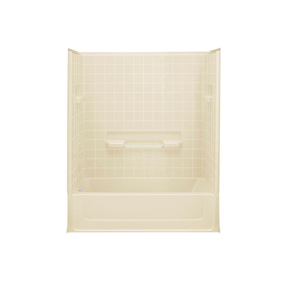 STERLING All Pro 30 in. x 60 in. x 73-1/2 in. Standard Fit Bath/Shower Kit in Almond-DISCONTINUED