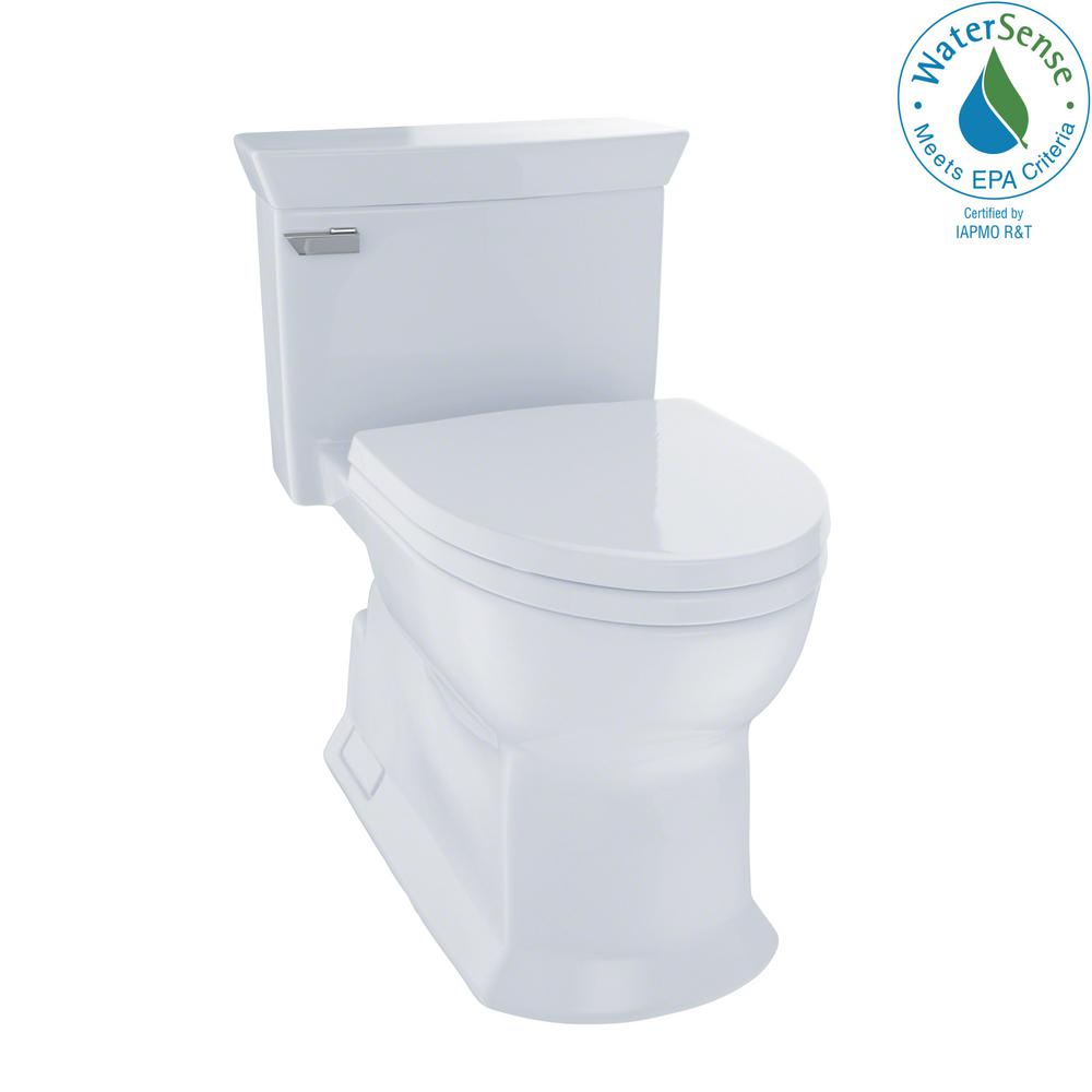 Toto Eco Soiree 1 Piece 28 Gpf Single Flush Elongated Skirted Toilet With Cefiontect In