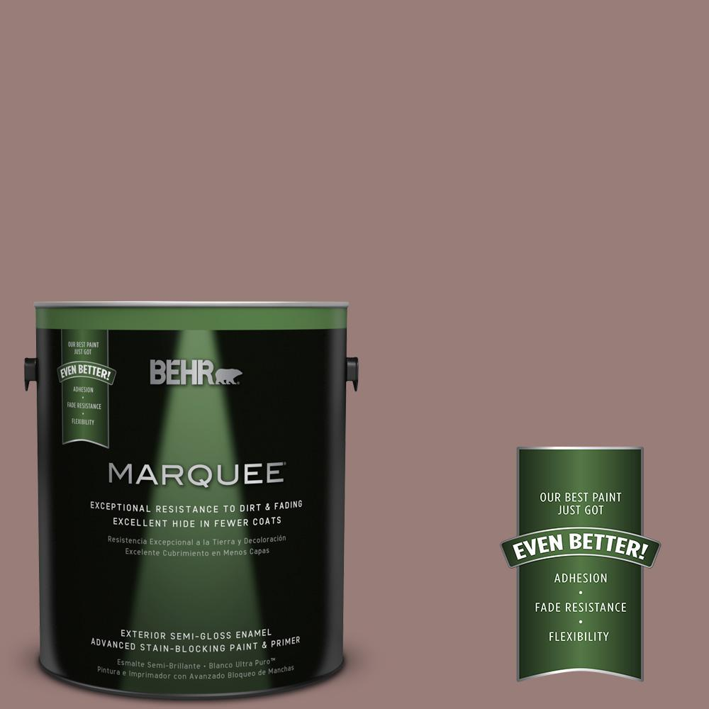 BEHR MARQUEE 1-gal. #UL130-19 Cafe Ole Semi-Gloss Enamel Exterior Paint