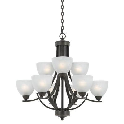 Warna 9-Light Bronze Chandelier