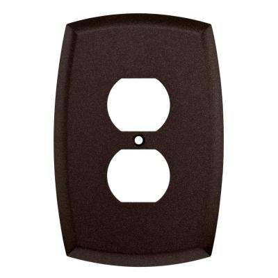 Amherst Decorative Single Duplex Outlet Cover, Cocoa Bronze