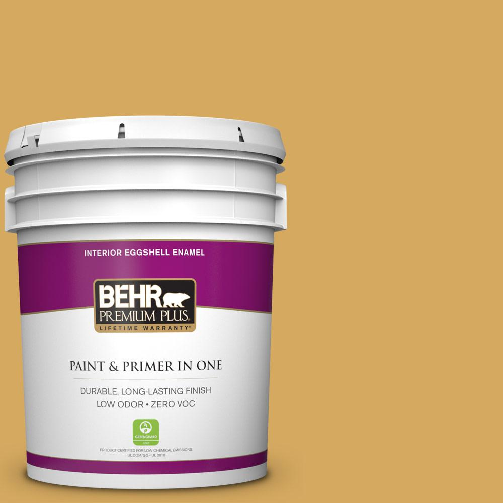 5 gal. #340D-5 Galley Gold Zero VOC Eggshell Enamel Interior Paint