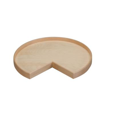 28 in Natual Wood Kidney Lazy Susan w/alum bearing