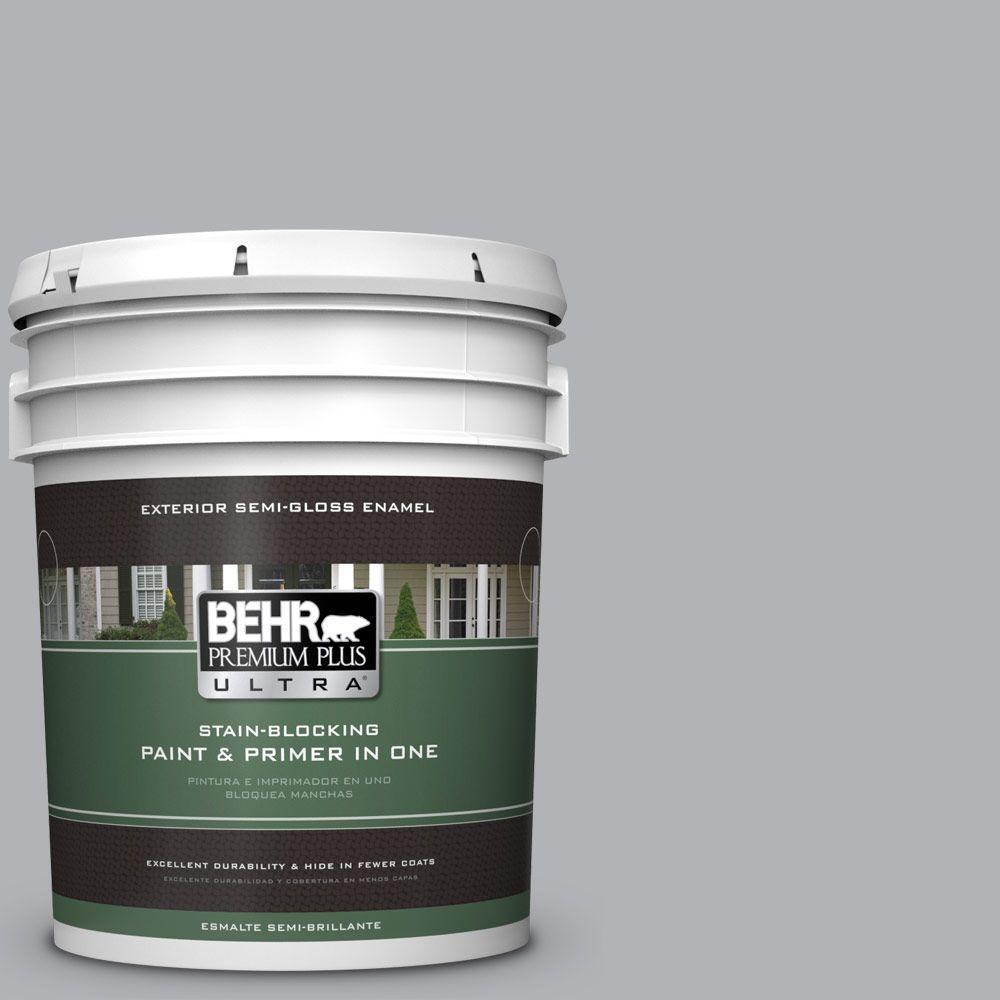 5-gal. #770E-3 Pewter Mug Semi-Gloss Enamel Exterior Paint