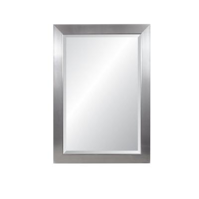 Large Rectangle Silver Beveled Glass Contemporary Mirror (41.25 in. H x 29.25 in. W)