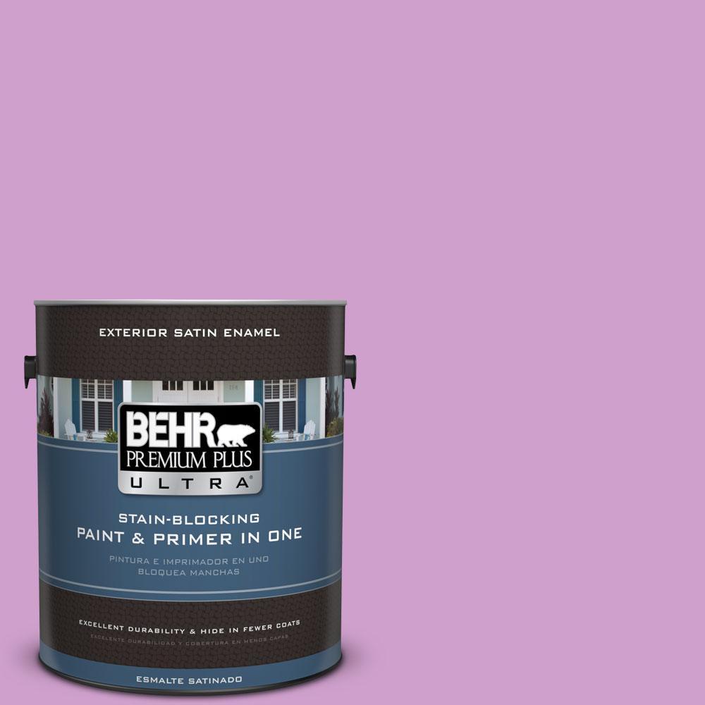BEHR Premium Plus Ultra 1-gal. #670B-4 Geranium Bud Satin Enamel Exterior Paint
