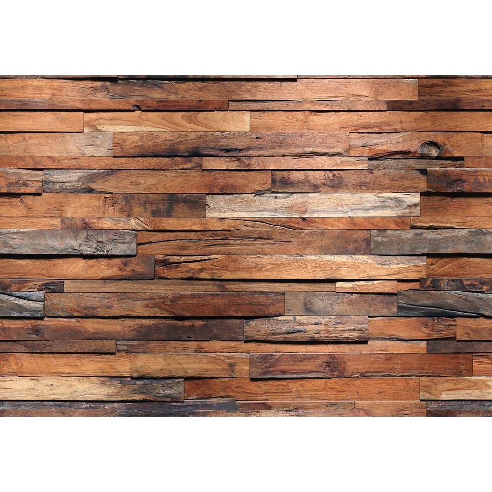 100 in. H x 144 in. W Reclaimed Wood Wall Mural