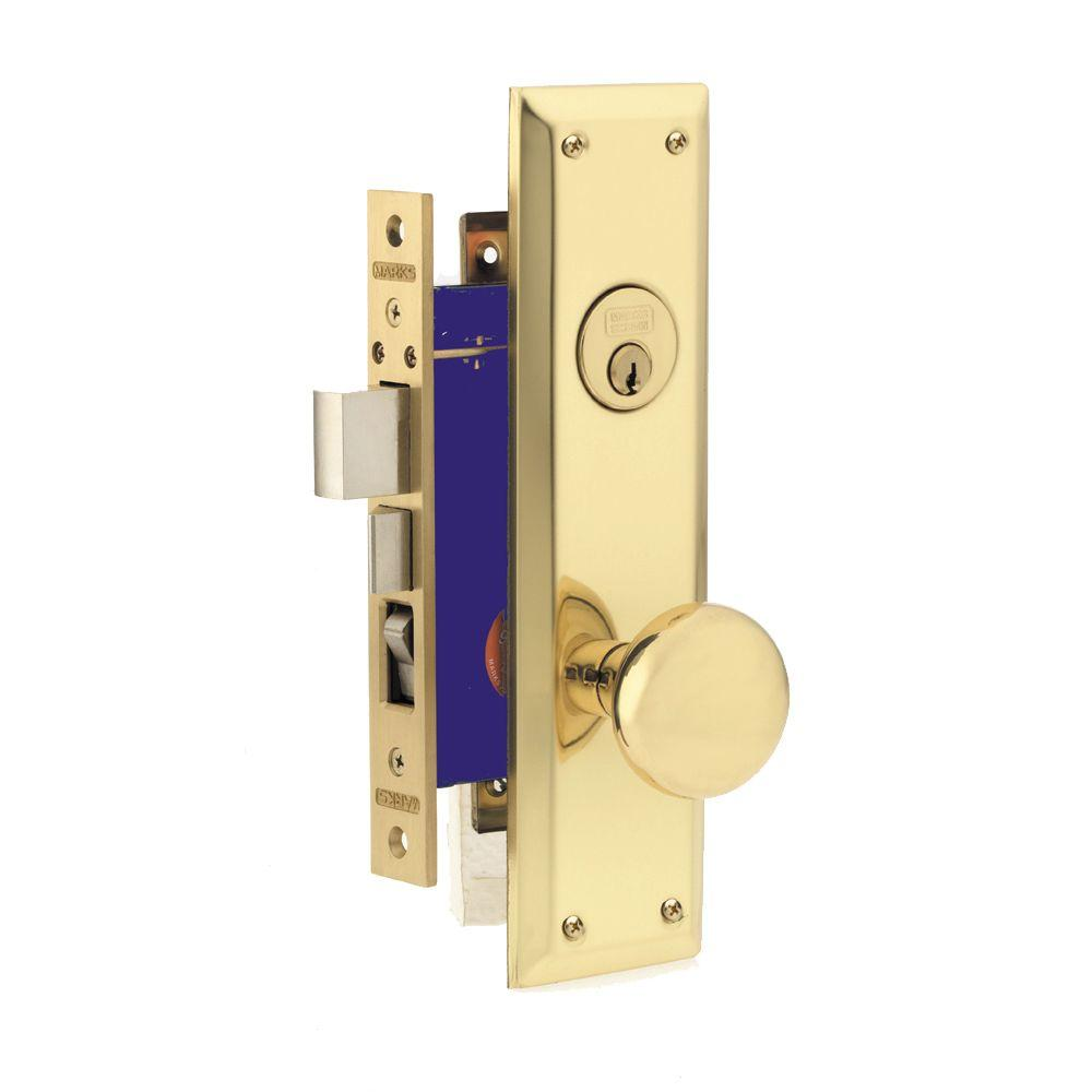 Marks Usa Brass Entry Knob With Double Cylinder Deadbolt