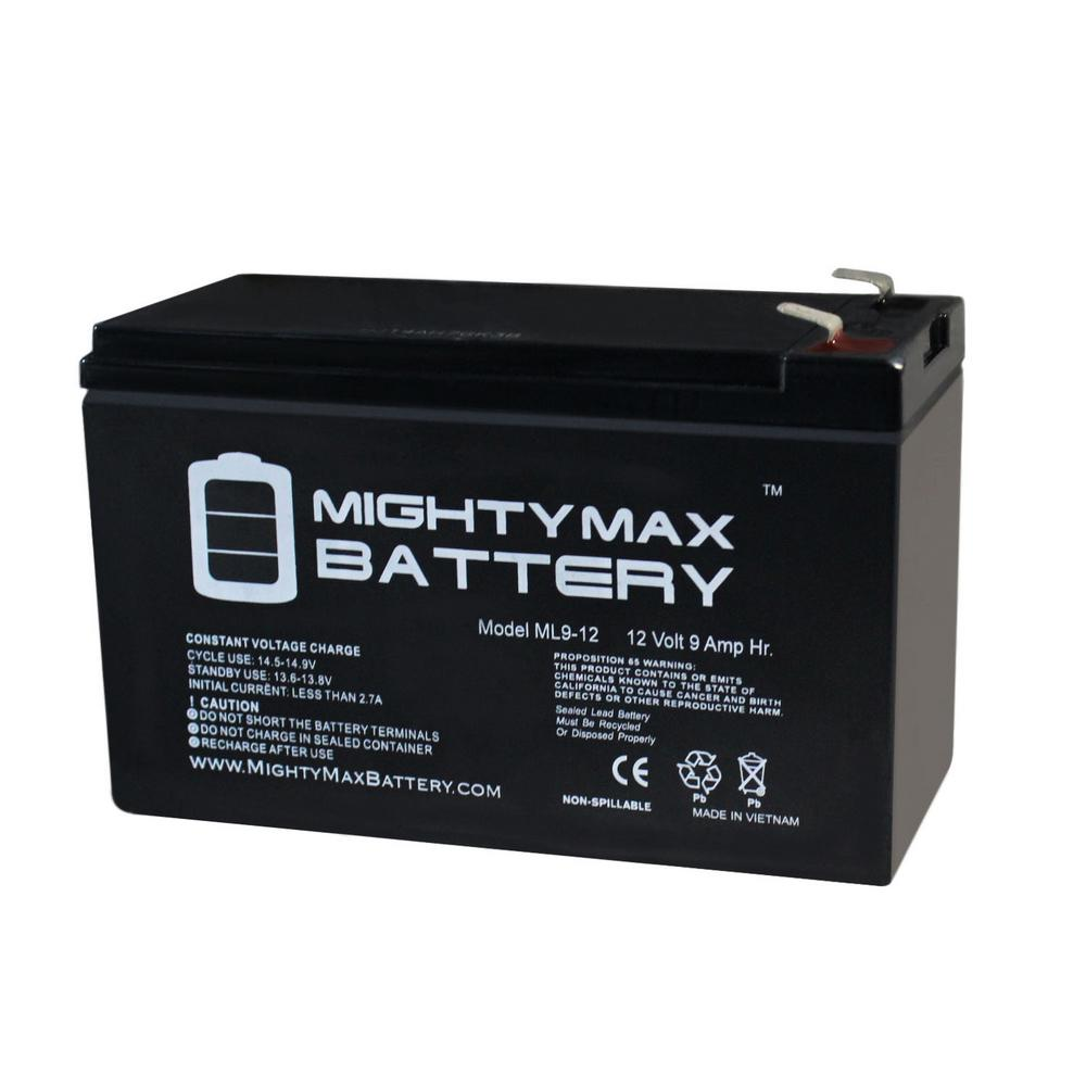 MIGHTY MAX BATTERY 12-Volt 9 Ah Sealed Lead Acid (SLA) Rechargeable Battery