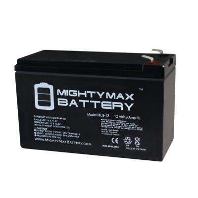12-Volt 9 Ah Sealed Lead Acid (SLA) Rechargeable Battery