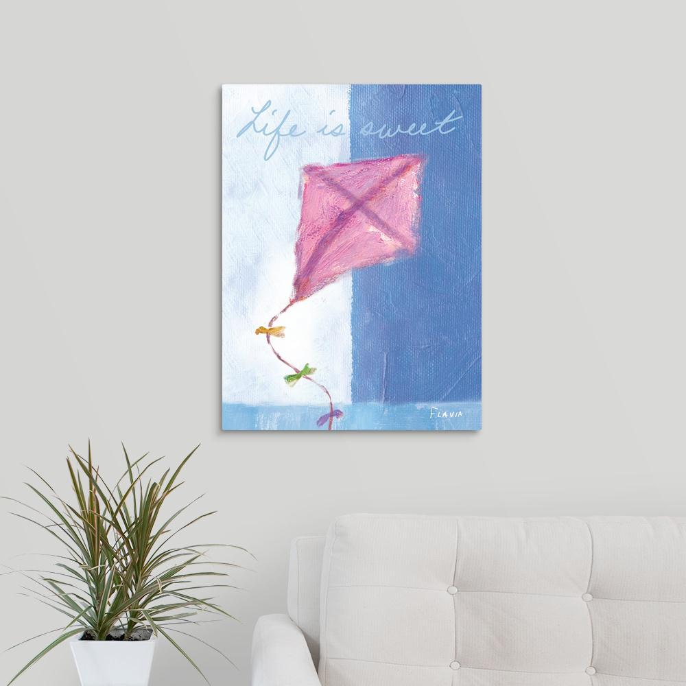 Greatbigcanvas 18 In X 24 In Kite Inspirational Print By Flavia