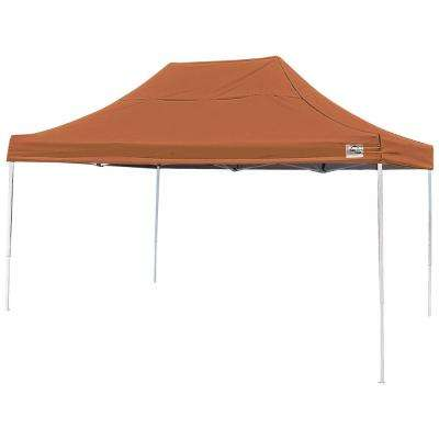 Pro 10 ft. x 15 ft. Straight Leg Pop-Up Canopy, Terracotta Cover, Black Bag