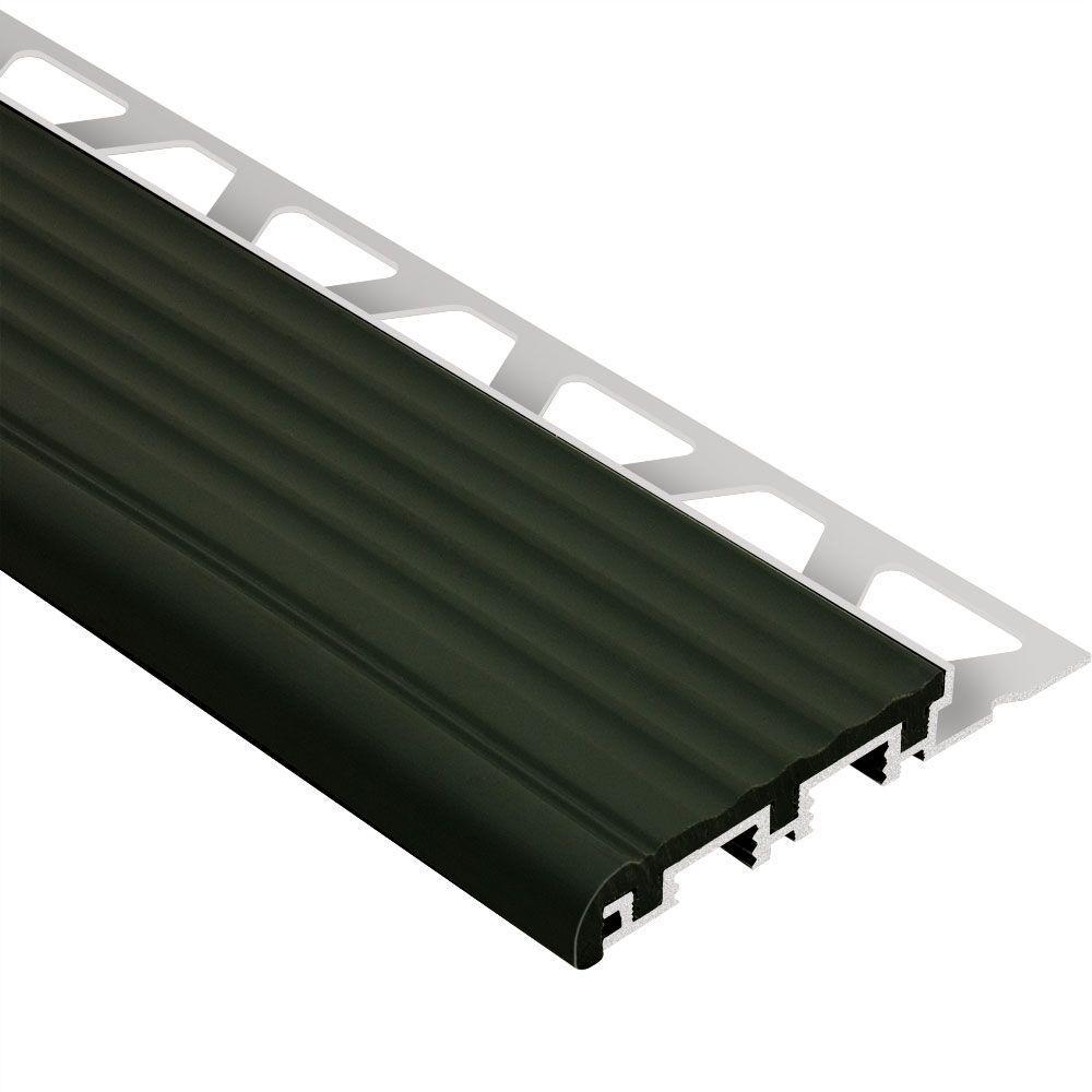 Schluter Trep B Aluminum With Black Insert 3 8 In X 4 Ft