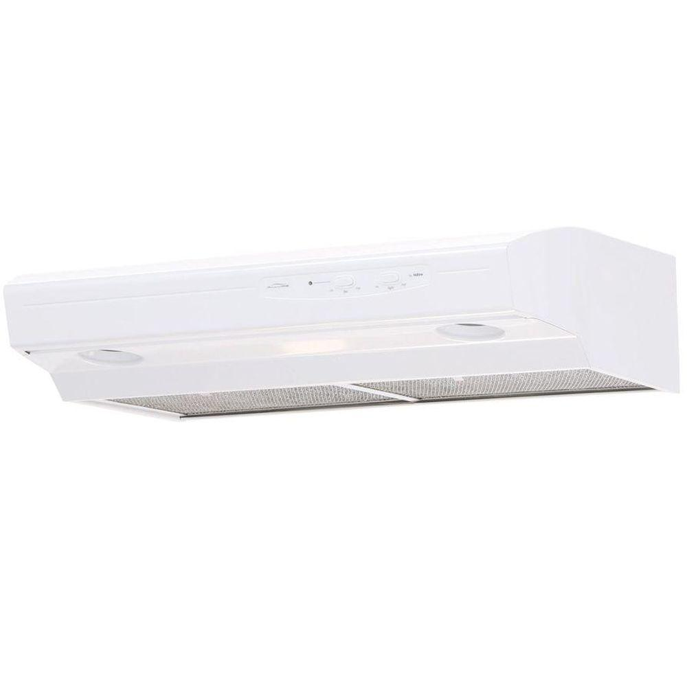 Allure I Series 30 in. Convertible Range Hood in White