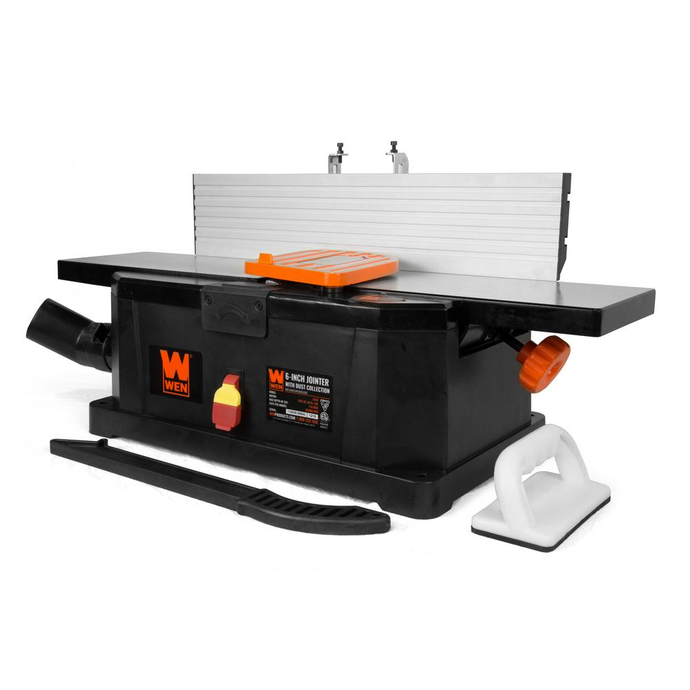 WEN 10 Amp 6 in. Corded Benchtop Joiner with Filter Bag and Depth Scale