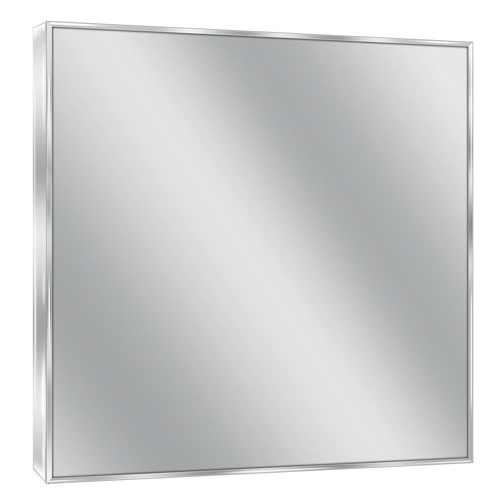Deco Mirror 30 In W X 36 H Spectrum Metal Single Framed Bright Chrome 8431 The Home Depot