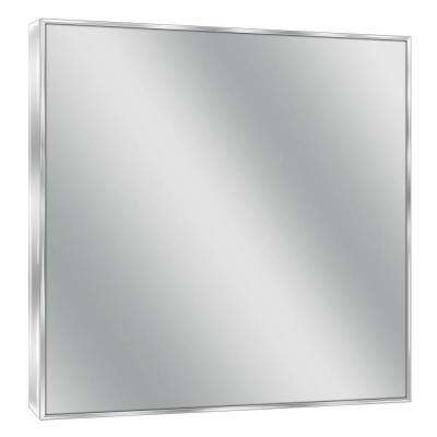 30 in. W x 36 in. H Spectrum Metal Single Framed Mirror in Bright Chrome