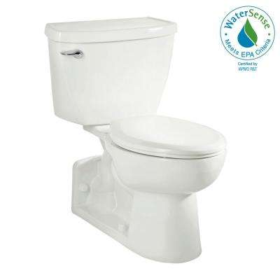 Yorkville FloWise Tall Height 4 in. Rough-In 2-piece 1.1 GPF Single Flush Pressure Assisted Elongated Toilet in White
