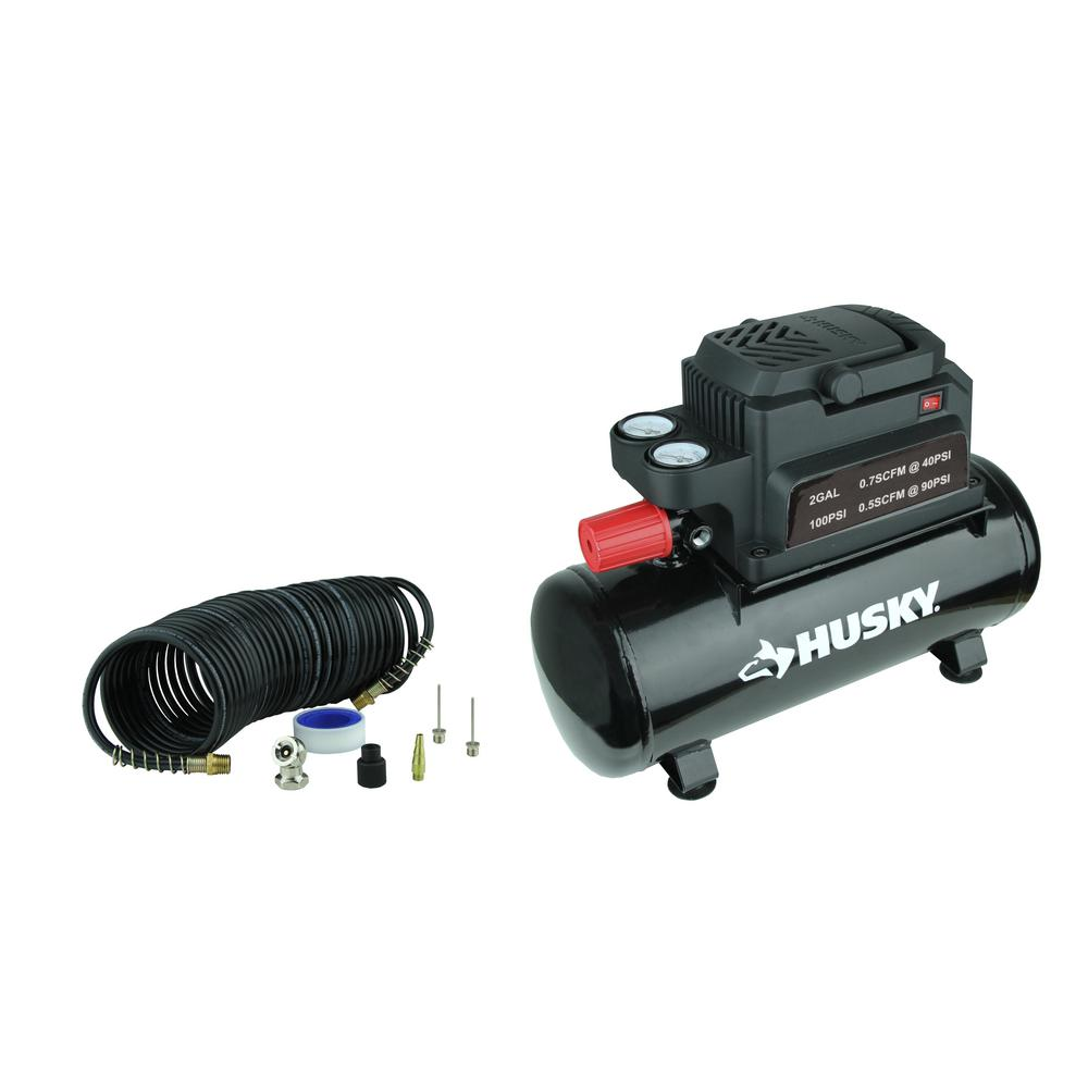 Husky 2 Gal. Electric Hotdog Air Compressor