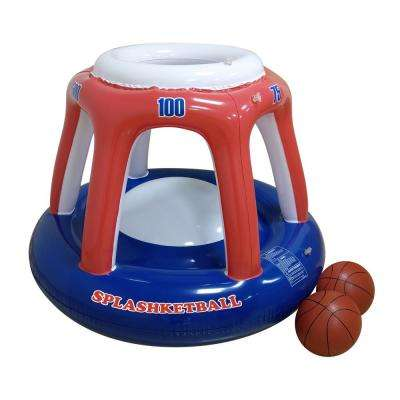 Blow Up Splashketball for Swimming Pools - Fun, Inflatable Basketball Toy Hoop and Balls