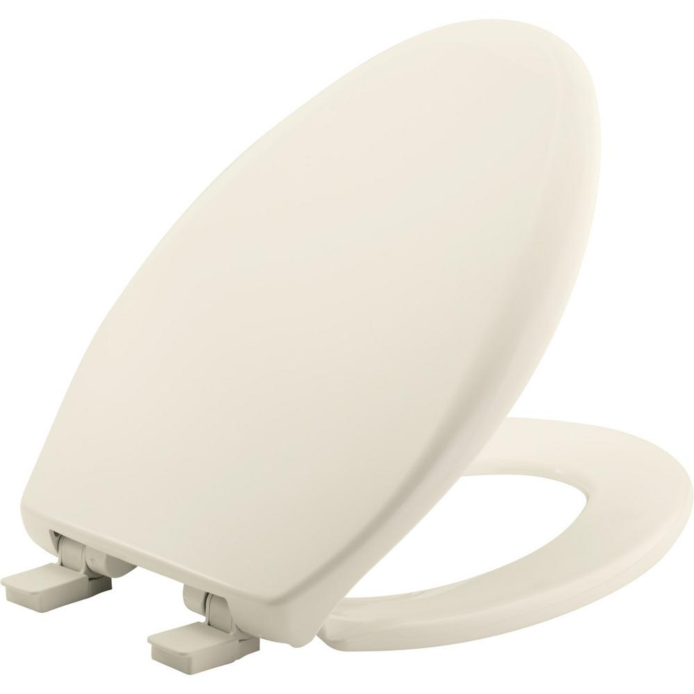 Church Affinity Elongated Closed Front Toilet Seat in Biscuit