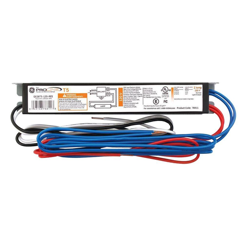 ge replacement ballasts ge28t5 120 res 64_1000 ge 2 ft and 4 ft t5 120 volt 1 lamp residential electronic philips t5 ballast wiring diagram at gsmx.co