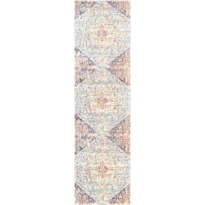 Rosette Vintage Tribal Blush 2 ft. x 8 ft. Runner