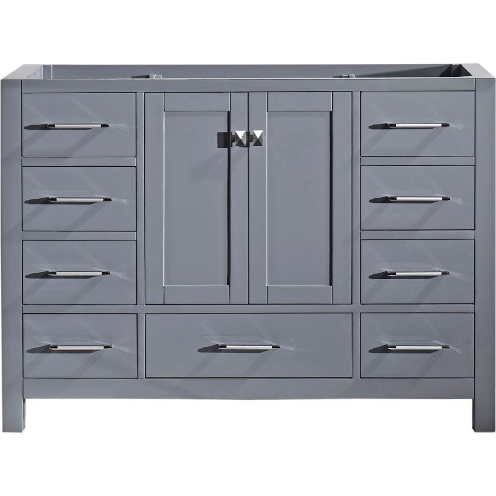 Virtu USA Caroline Avenue 48 inch W x 22 inch D Vanity Cabinet Only in Grey by Virtu USA