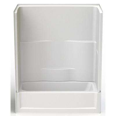 Remodeline 60 in. x 30 in. x 72 in. 2-Piece Bath and Shower Kit with Left Drain in White