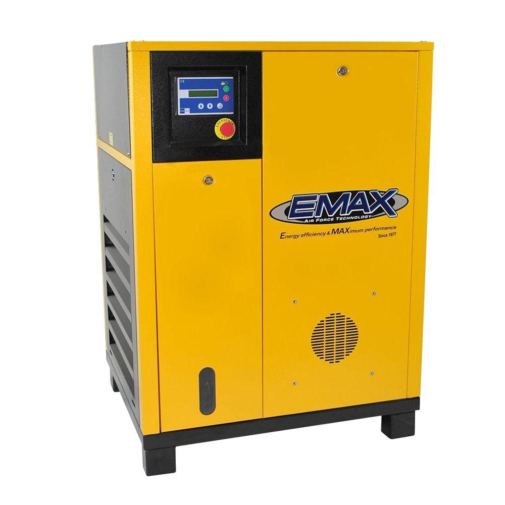 EMAX Premium Series 10 HP 208-Volt 3-Phase Stationary Electric Variable Speed Rotary Screw Air Compressor