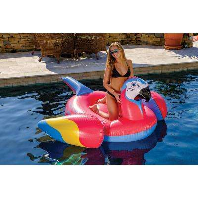 Red Parrot head Pool Float
