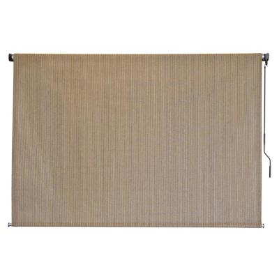 Seaside Cordless UV Protection Fabric Exterior Roller Shade 96 in. W x 72 in. L