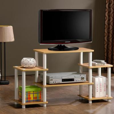 Turn-N-Tube Beech Entertainment Center with Side Shelves