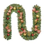 9 ft Royal Easton Battery Operated Pine LED Pre-Lit Christmas Garland with Timer
