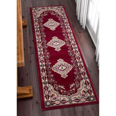 Miami Tehran Red 2 ft. x 7 ft. Traditional Runner Rug