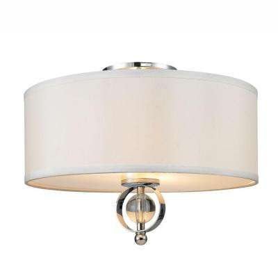 Cerchi Collection 2-Light Chrome Flush Mount