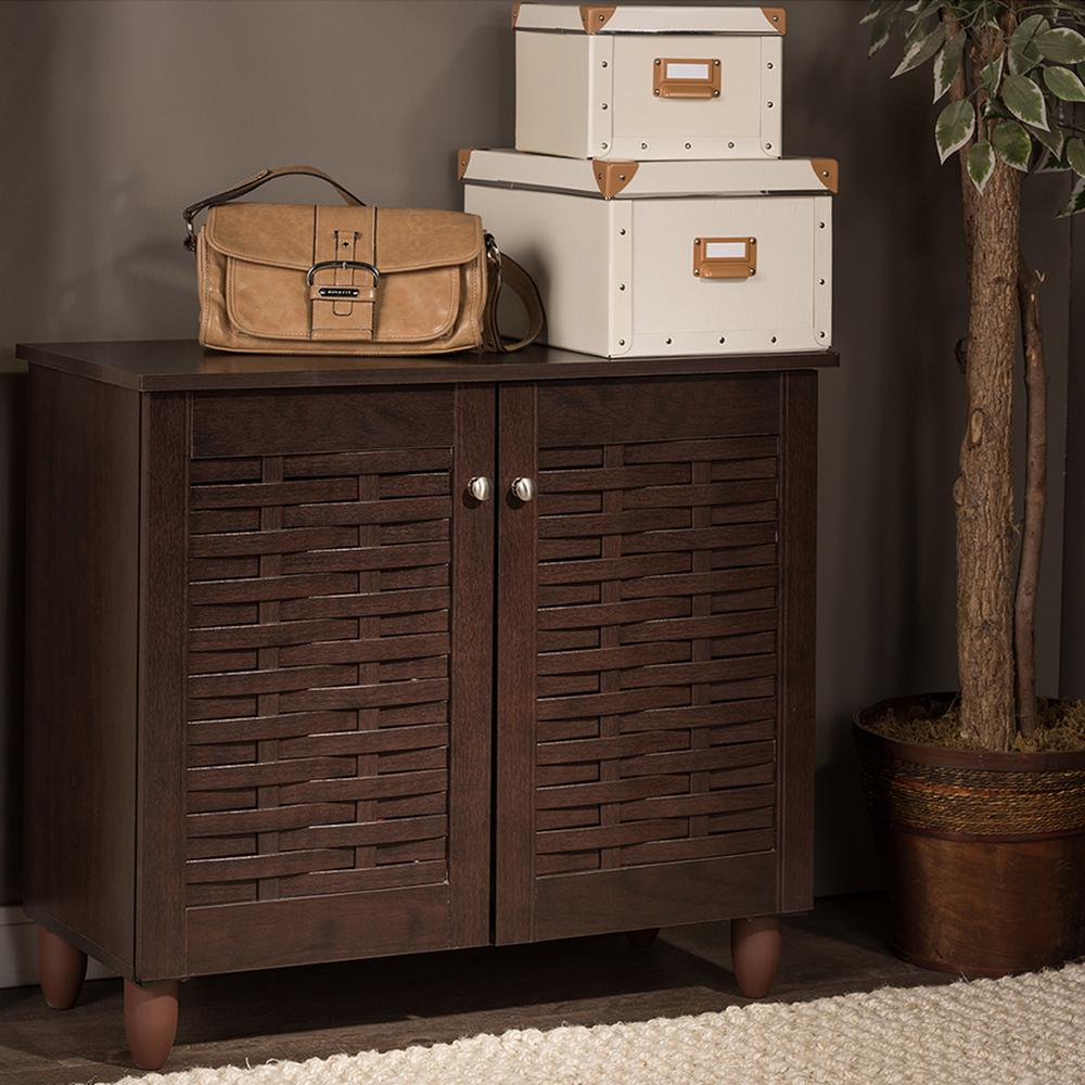 Baxton Studio Winda Dark Brown Wood Storage Cabinet-28862