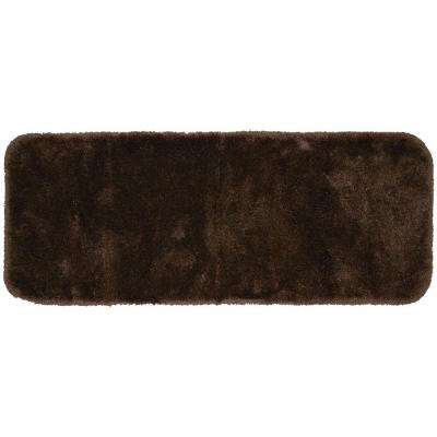 Finest Luxury Chocolate 22 in. x 60 in. Washable Bathroom Accent Rug