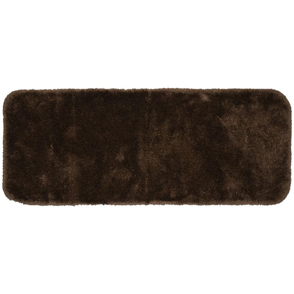 Finest Luxury Chocolate 22 in. x 60 in. Washable Bathroom Accent