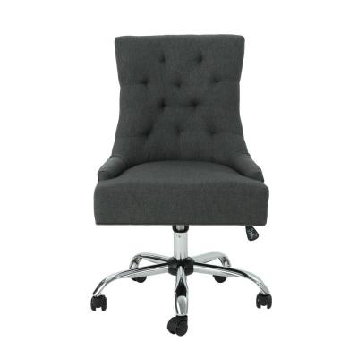 Americo Tufted Back Dark Gray Fabric Home Office Desk Chair