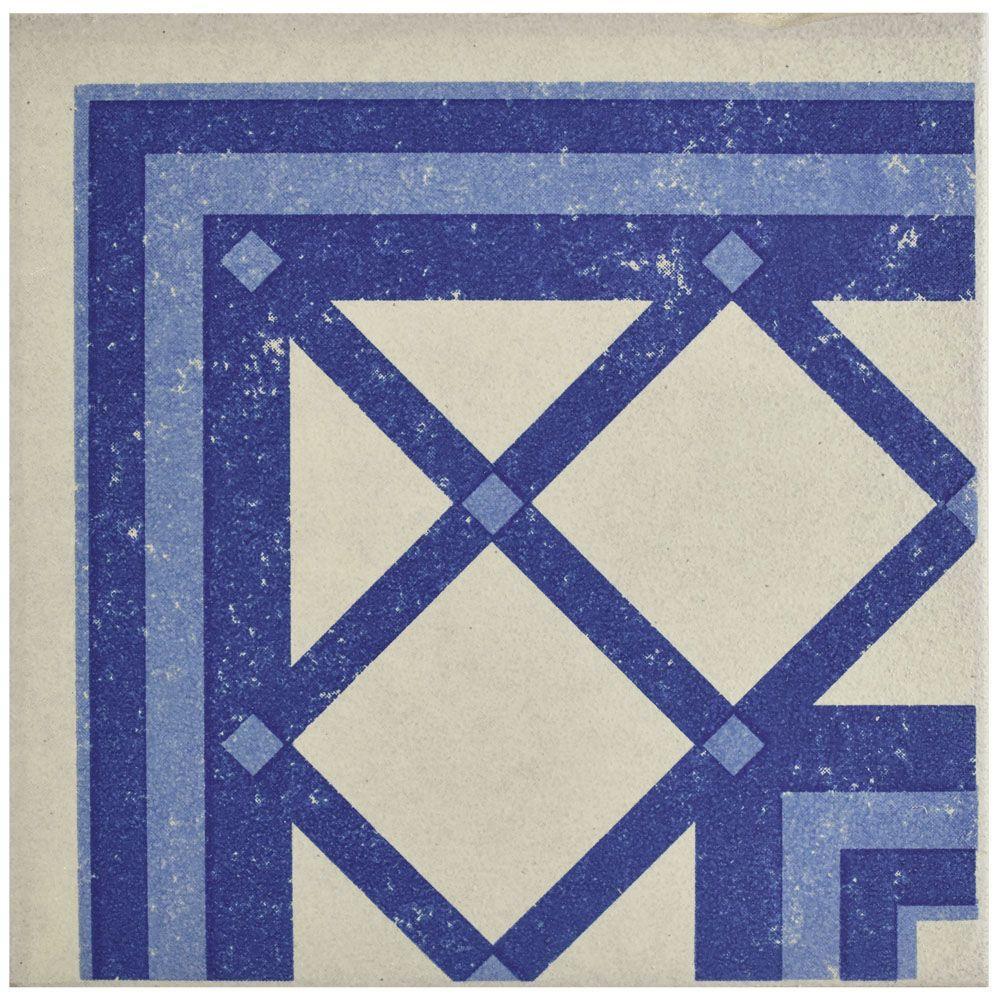 Cementi Quatro Ara Esquina 7 in. x 7 in. Porcelain Floor