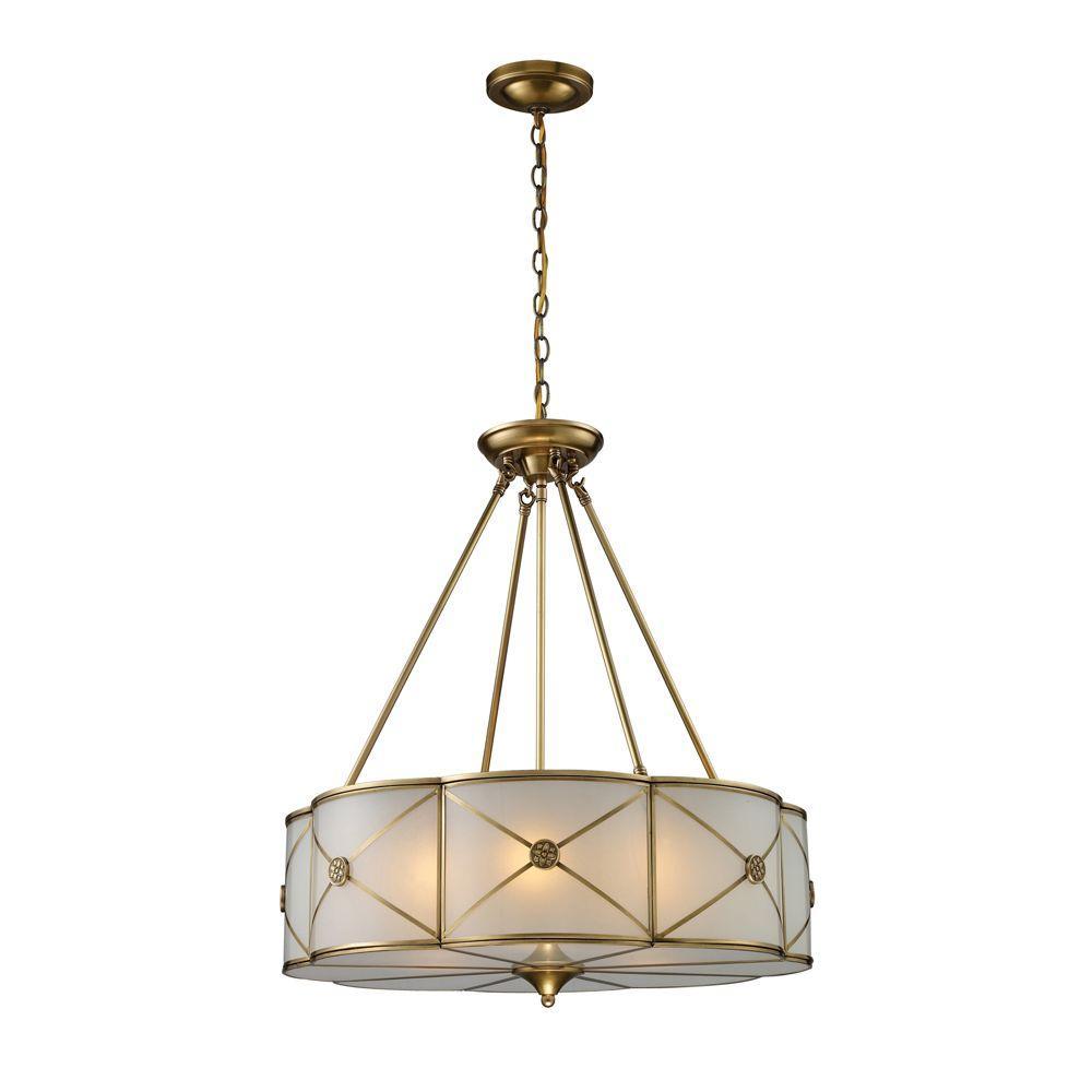 Preston 6-Light Brushed Brass Ceiling Pendant