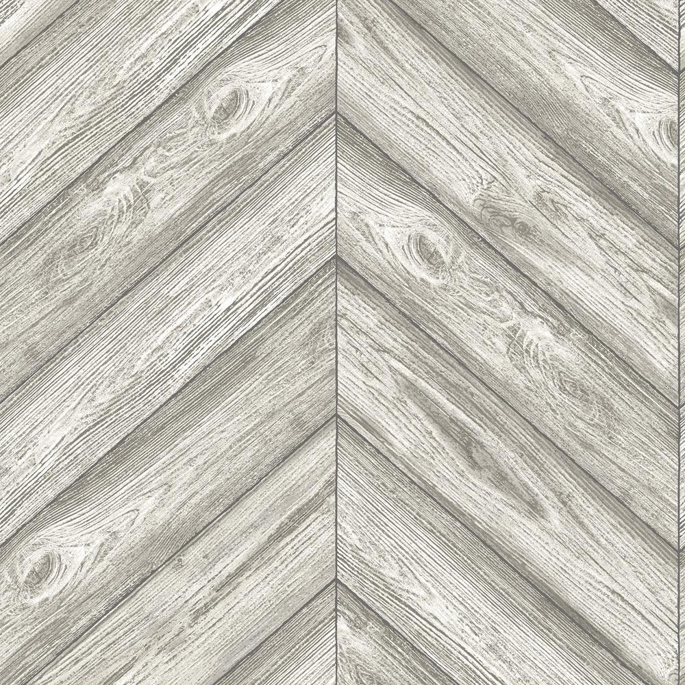 Tempaper Herringbone Ash Self Adhesive Removable Wallpaper He500