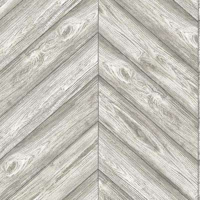 Ash Herringbone Wallpaper