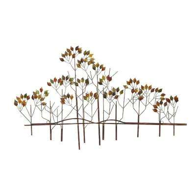 Multicolor Metal Trees Wall Art Decor