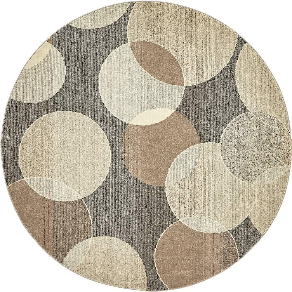 Unique Loom Chromatic Gray 8 X Round Rug