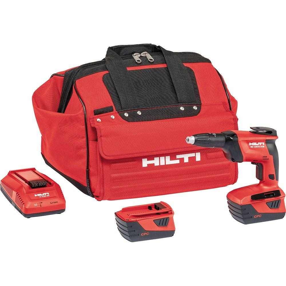 Hilti SD 4500 18-Volt Lithium-Ion 1/4 in. Hex Cordless High Speed Drywall Screwdriver