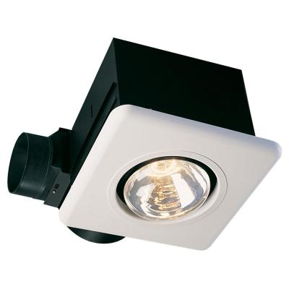 Combination Heater White 70 CFM 3.5 Sone Bathroom Ceiling Exhaust Fan
