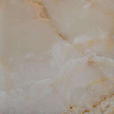 White 12 in. x 12 in. Polished Onyx Floor and Wall Tile (10 sq. ft. / case)