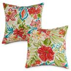 Breeze Floral Square Outdoor Throw Pillow (2-Pack)